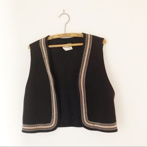 Vintage 70's back to school vest black M/L